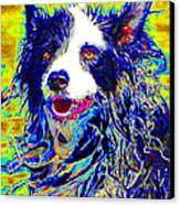 Sheep Dog 20130125v1 Canvas Print by Wingsdomain Art and Photography