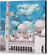 Sheikh Zayed Mosque Canvas Print by Catf