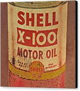 Shell Motor Oil Canvas Print by Michelle Calkins