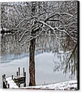 Shenandoah Winter Serenity Canvas Print by Lara Ellis