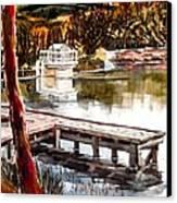 Shepherd Mountain Lake Bright Canvas Print by Kip DeVore