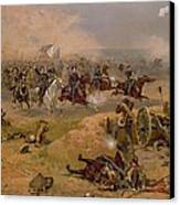 Sheridan's Final Charge At Winchester Canvas Print by American School