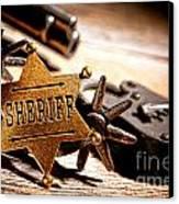 Sheriff Tools Canvas Print
