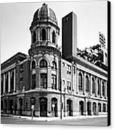 Shibe Park In Black And White Canvas Print by Bill Cannon
