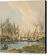 Ship Building At Limehouse Canvas Print