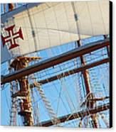Ship Rigging Canvas Print by Carlos Caetano