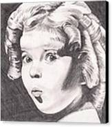 Shirley Temple Canvas Print by Beverly Marshall