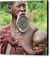 Shocking Africa Canvas Print by Liudmila Di