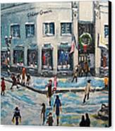 Shopping At Grover Cronin Canvas Print by Rita Brown
