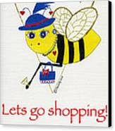 Shopping Bee Gilda Canvas Print by Christy Woodland