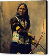Shout At Oglala Sioux  Canvas Print