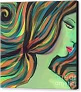Show Me The Colors Canvas Print by Hilda Lechuga