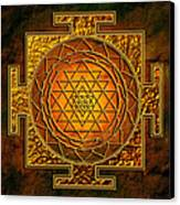 Shri Yantra Gold Lakshmi Canvas Print
