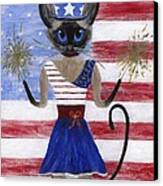 Siamese Queen Of The U S A Canvas Print