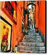 Sicilian Steps Canvas Print