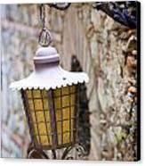 Sicilian Village Lamp Canvas Print by David Smith