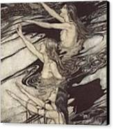 Siegfried Siegfried Our Warning Is True Flee Oh Flee From The Curse Canvas Print by Arthur Rackham