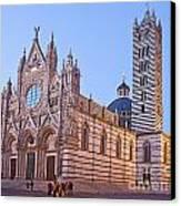 Siena Duomo At Sunset Canvas Print by Liz Leyden