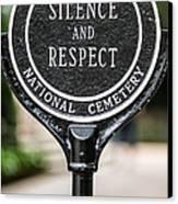 Silence And Respect Canvas Print by Steve Gadomski