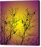 Silhouette Birds Canvas Print by Christina Rollo