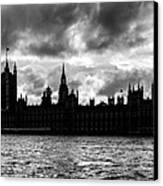 Silhouette Of  Palace Of Westminster And The Big Ben Canvas Print by Semmick Photo
