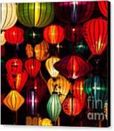 Silk Lanterns In Vietnam Canvas Print
