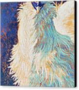 Silkie Rooster Canvas Print by Tracy L Teeter