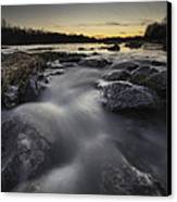 Silky River Canvas Print
