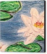 Silver Lillies Canvas Print by Daniel Dubinsky