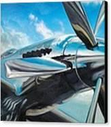 Silver Sky Plough Canvas Print by Riek  Jonker