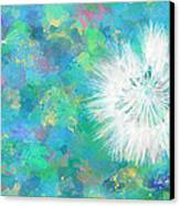 Silverpuff Dandelion Wish Canvas Print
