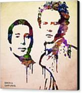 Simon And Garfunkel Canvas Print by Aged Pixel