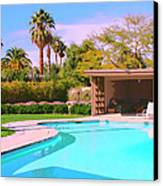 Sinatra Pool Cabana Palm Springs Canvas Print