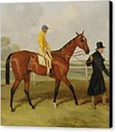 Sir Tatton Sykes Leading In The Horse Sir Tatton Sykes With William Scott Up Canvas Print