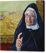 Sister Wendy Canvas Print by Xueling Zou