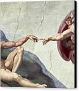 Sistine Chapel Ceiling Canvas Print by Michelangelo Buonarroti