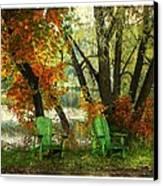 Sit A While Canvas Print by Dianne  Lacourciere