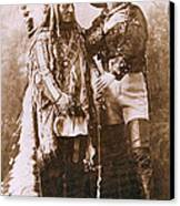 Sitting Bull And Buffalo Bill Canvas Print by Unknown