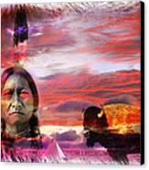 Sitting Bull Canvas Print by Mal Bray