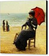 Sitting By The Sea Canvas Print