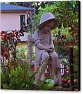 Sitting In The Garden Canvas Print