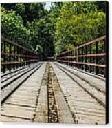 Sitting On A Bridge Canvas Print