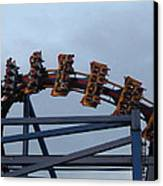 Six Flags Great Adventure - Medusa Roller Coaster - 12127 Canvas Print by DC Photographer