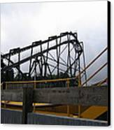Six Flags Great Adventure - Nitro Roller Coaster - 12122 Canvas Print by DC Photographer