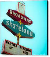 Skateland Canvas Print by Sonja Quintero