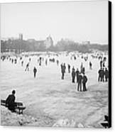 Skating In Central Park Canvas Print by Anonymous