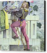 Sketch For The Passions Love Canvas Print by Richard Dadd