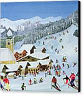 Ski Whizzz Canvas Print by Judy Joel