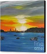 Skies Over The City Canvas Print by Barbara Hayes