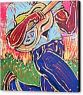 Skippin' Blues Canvas Print by Robert Ponzio